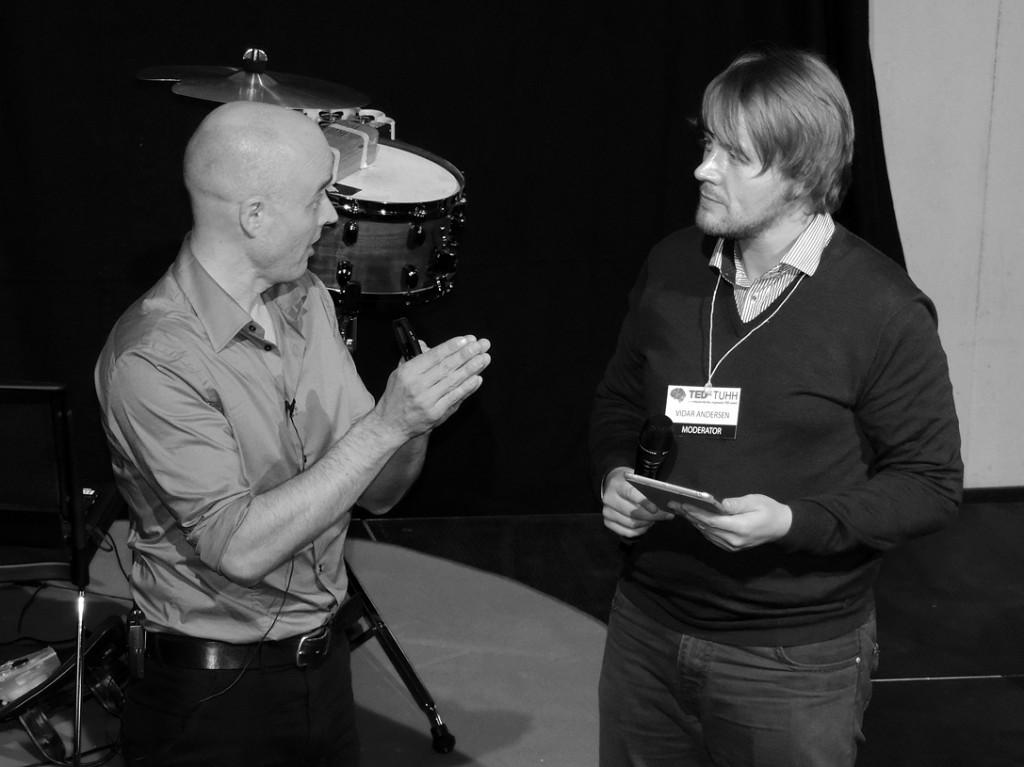 Andersen playing Anderson: Moderating TEDx in Hamburg, DE