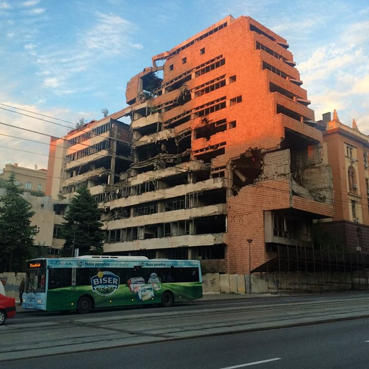 Belgrade still torn between preserving as a monument and restoring it.