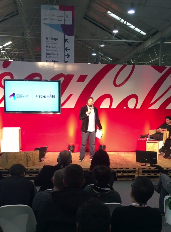 MC'ing @ Dublin Web Summit 2015